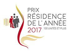 Prix distinction 2017 - Résidence de l'année 100 unités et plus