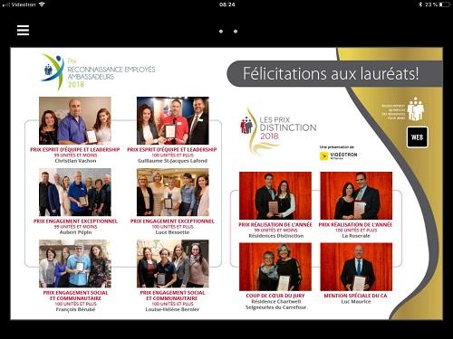 Lauréats Prix distinction dans Le Devoir du 24 novembre 2018
