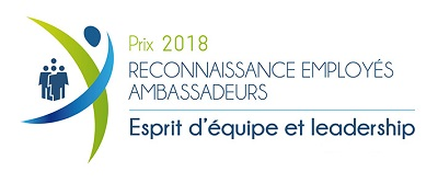 Prix reconnaissance employés ambassadeurs 2018 - esprit d'équipe et leadership
