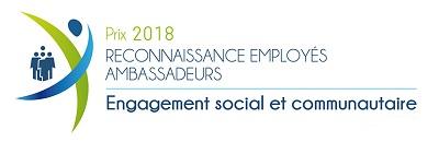 Prix reconnaissance employés ambassadeurs 2018 - engagement social et communautaire