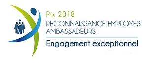 Prix reconnaissance employés ambassadeurs 2018 - engagement exceptionnel