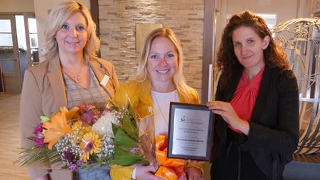 Lauréate Marie-Ève Couture Belisle - Prix esprit d'équipe et leadership 100 unités et plus